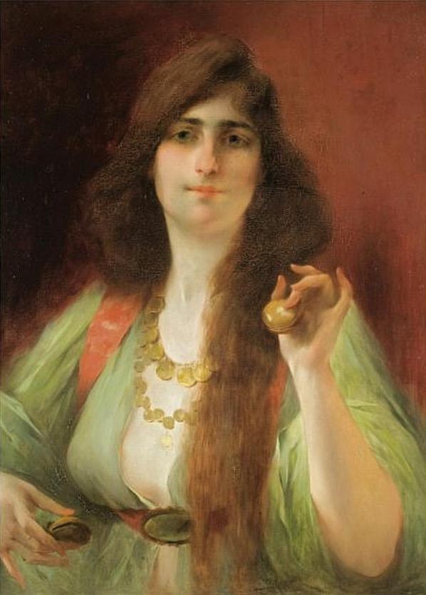 Jeune femme aux castagnettes